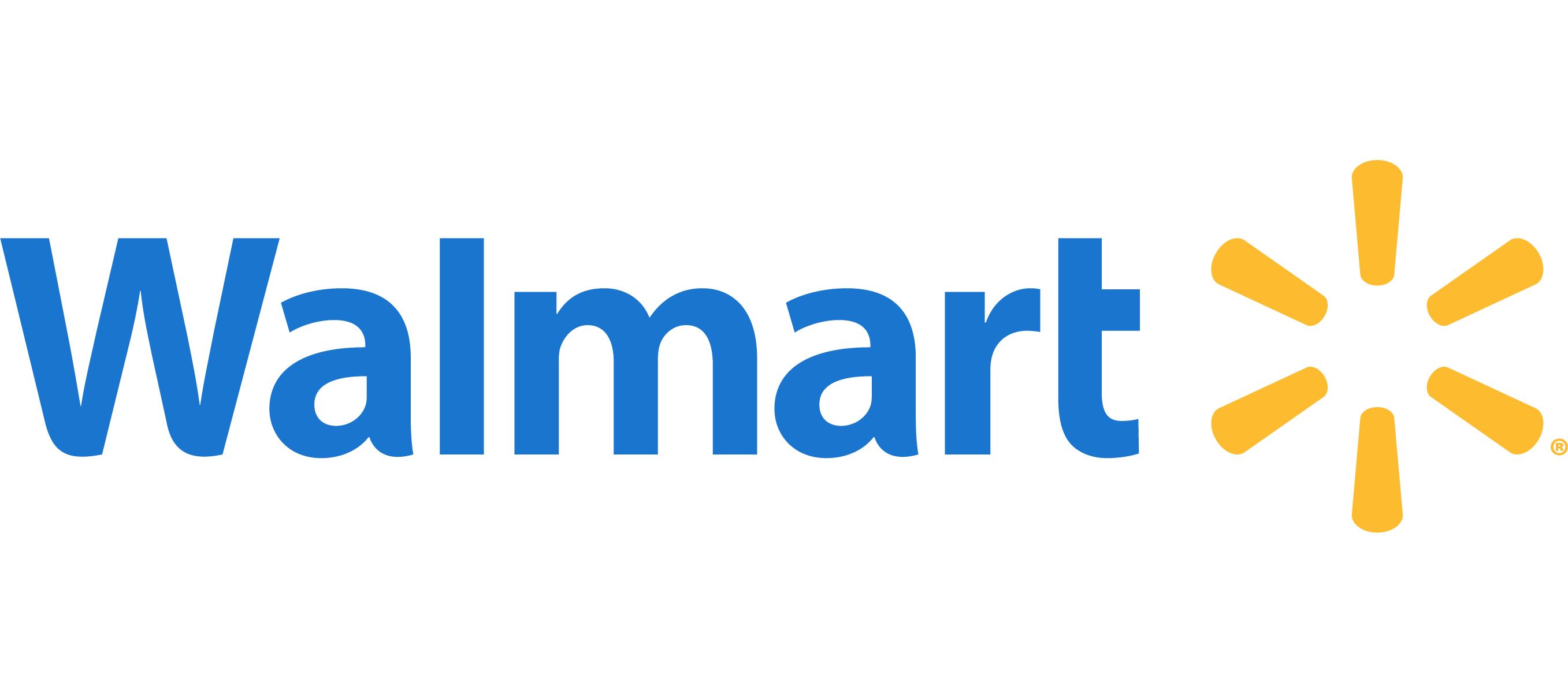 Blue Walmart stores logo